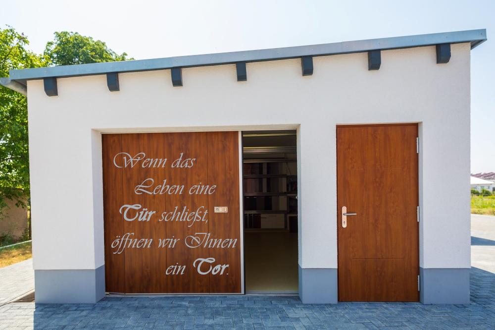Tür Nebentür Garagentor Seitensectionaltor Eiche hell